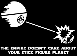 The Empire Doesn T Care About Your Stick Figure Family Star Wars Decals Star Wars Decal Star Wars Humor Stick Figures