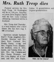 Obituary for Ruth Tresp - Newspapers.com