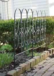 Metal Triple Arched Garden Edging Fence Path Driveway Border Lawn Edge Set Of 2 Ebay