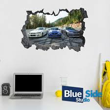 Fc Barcelona Team 3d Hole In The Wall Effect Wall Sticker Art Decal Mural 1204