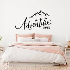 Adventure Begins Wall Stickers Travel Wall Decals Mountain Travel Wall Sticker Adventure Vinyl Home Room Bedroom Decal Wallpaper Stickers For Bedrooms Walls Decals From Joystickers 11 67 Dhgate Com