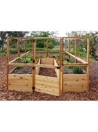 Raised Garden Bed 8 X8 Or 8 X12 With Deer Fence Kit Gardener S Supply In 2020 Cedar Raised Garden Beds Garden Beds Raised Garden Beds