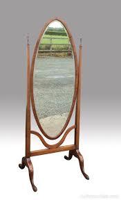 fine edwardian mahogany cheval mirror