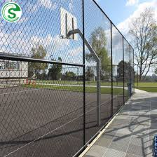 China 5m Tall Vinyl Coated Chain Link Fence Sports Netting Fencing Cost China Sports Field Fence Price 10ft High Playground Fence