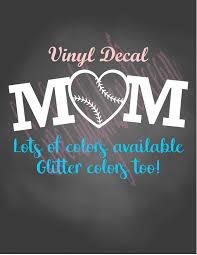 Baseball Mom Decal Baseball Heart Decal Softball Mom Decal Softball Mom Car Decal Baseball Cup Sticker Softball Decal Baseball Mom Softball Mom Sporty Mom