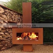 freestanding corten steel metal outdoor