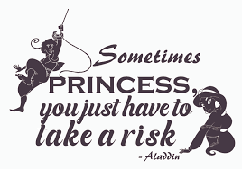 Aladdin And Princess Jasmine Wall Art Decal Sometimes Princess You Just Have To Take A Risk 14 X 20 Diy Removable Aladdin Movie Quotes Vinyl Home Decor Stick And Peel