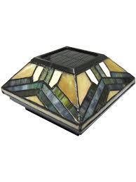 Stained Glass Solar Post Cap Lights 4x4 Or 5x5 Solar Post Cap Solar Post Caps Solar Post Lights Fence Lighting