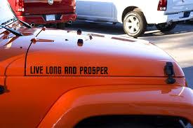Buy Pair Fender Trek Live Long And Prosper Spock Vulcan Decal Car Vinyl Sticker