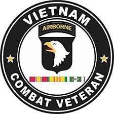 Amazon Com Military Vet Shop Magnet Us Army 101st Airborne Division Vietnam Service Combat Veteran Vinyl Magnet Car Fridge Locker Metal Decal 3 8 Automotive