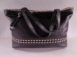 cole haan black leather w white trim