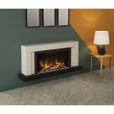 wall mounted electric fireplace suite