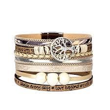 womens leather wrap bracelet