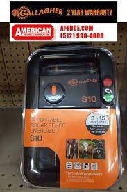 Gallagher S10 Solar 0 1 Joule 5 Acre Electric Fence Charger Energizer For Sale Online Ebay