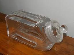 htf stacking glass apothecary jar candy