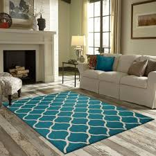 area rug teal turquoise white accent