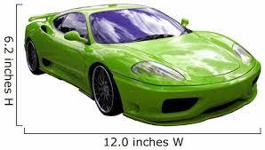Green Italian Car Wall Decal Wallmonkeys Com
