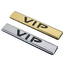 3d Metal Vip Car Side Body Trunk Emblem Badge Sticker Decal For Teana Gold Buy At A Low Prices On Joom E Commerce Platform
