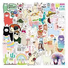 Hot Discount 7be51 50pcs Llama Alpaca Cute Sticker Kawaii Cartoon Camel Sheep Animal Stickers For Kids Reward Stickers Scrapbooking Bike Car Decals Cicig Co