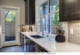 contemporary kitchen design brown