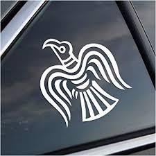 Amazon Com Odin Norse God Raven White Vinyl Decal Automotive