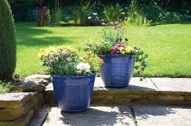 x blue garden planters pack of 2