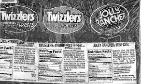 jolly rancher nutrition label