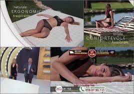 Le modelle della pubblicità reti e materassi Marion con Alessandro Greco e Stefania  Orlando