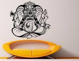 Ganesha Wall Vinyl Decal Ganesh Sticker Elephant Lord Art Etsy