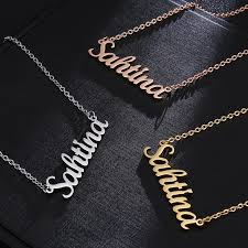 necklace personalized letter