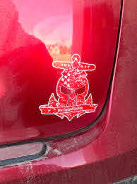 Burnout Skull Decal New England Spahtens