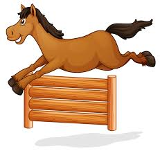 A Horse Jump On Wooden Fence Download Free Vectors Clipart Graphics Vector Art