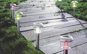 solar post lights contemporary
