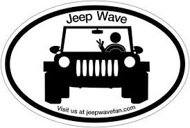 Jeep Wave Fan Bumper Sticker And Car Decal