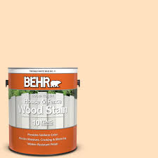 Behr 1 Gal 310c 2 Orange Glow Solid Color House And Fence Exterior Wood Stain 01101 The Home Depot
