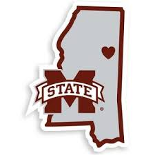 Siskiyou Ncaa Mississippi State Bulldogs Home State Decal 5 Vinyl Sticker