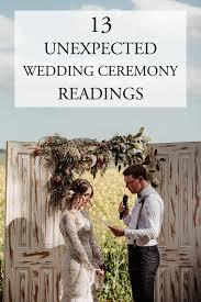 13 unexpected wedding ceremony readings