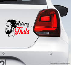 Ms Dhoni Return Of Thala As Car Bumper Decal Peacockride