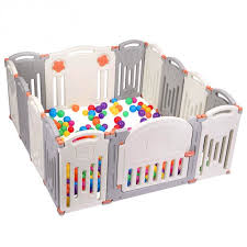 Ktaxon 14 Playpen Baby Kids Panel Safety Play Center Yard Home Pen Plus Indoor Outdoor Walmart Com Walmart Com