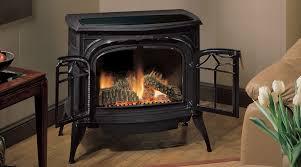 modern free standing gas fireplace