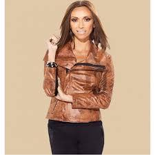 hsn giuliana rancic brown leather jacket