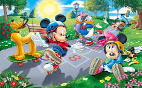 driving on rollers mickey donald minnie