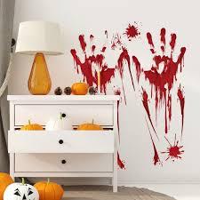 1pc Bloody Blood Vampire Handprint Clings Diy Car Window Mirrors Bathroom Decal Horror Creepy Sticker Party Decoation Wish
