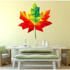 Shop Maple Leaf Polygonal Wall Decal Canadian Symbol Overstock 32226688