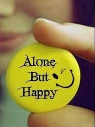 image result for alone but happy