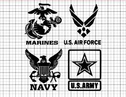 Military Decals Army Navy Air Force Marines Decals For Etsy Vinyl Decals Military Logo Army Crafts