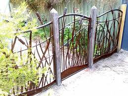 Reeds Bullrush And Flowing Water Forged Garden Gate And Fence Panels Metal Garden Fencing Metal Fence Panels Garden Fence Panels