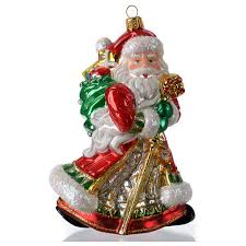 blown glass ornament santa