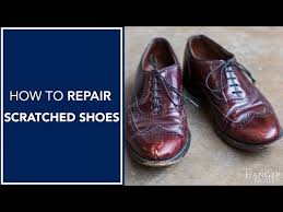 how to repair scuffed toes on shoes