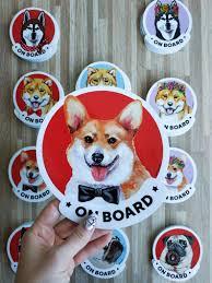 Pembroke Welsh Corgi On Board Car Window Sticker For Women Etsy Dog Christmas Gifts Corgi Mom Welsh Corgi